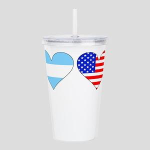 Argentinian American Hearts Acrylic Double-wall Tu
