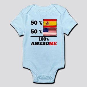 Half Spanish Half American Body Suit