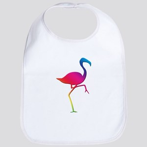 Rainbow Flamingo Bib