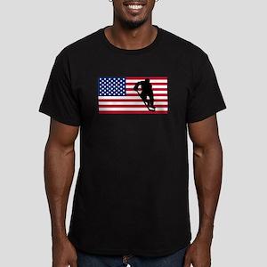 Hockey Player American Flag T-Shirt