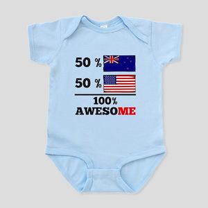 Half Kiwi Half American Body Suit