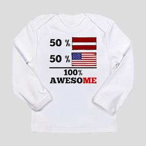 Half Latvian Half American Long Sleeve T-Shirt