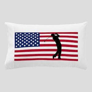 Golfer American Flag Pillow Case