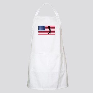 Golfer American Flag Apron