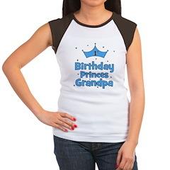 1st Birthday Princes Grandpa! Women's Cap Sleeve T
