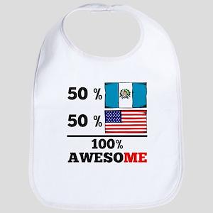Half Guatemalan Half American Bib