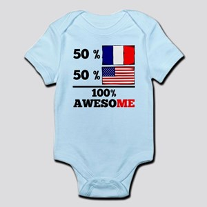 Half French Half American Body Suit