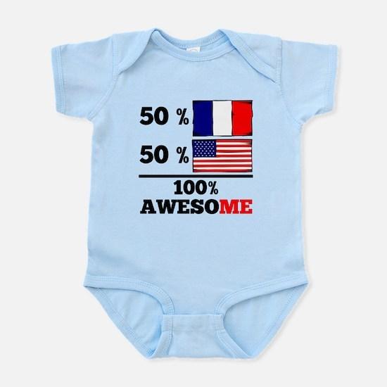 Half French Half American Body Suit