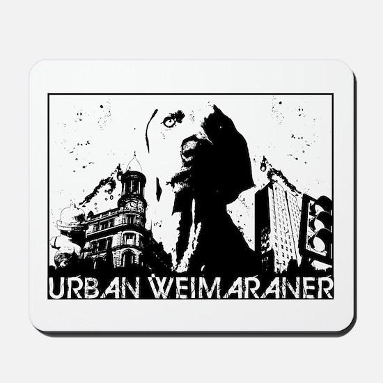 Urban Weimaraner Mousepad