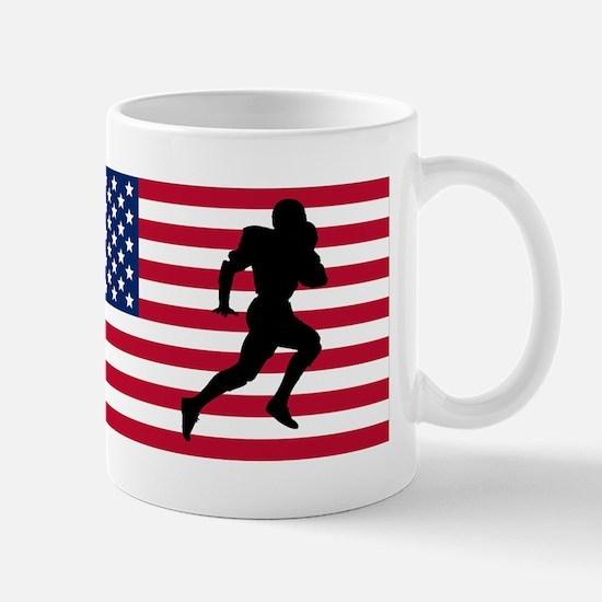 Running Back American Flag Mugs