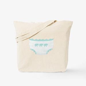 Baby Diaper Elephants Tote Bag