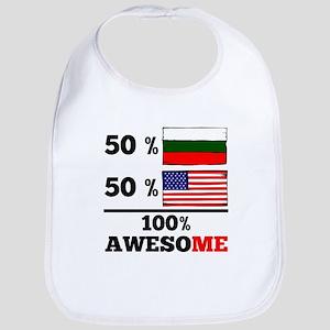 Half Bulgarian Half American Bib