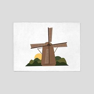 Dutch Windmill 5'x7'Area Rug