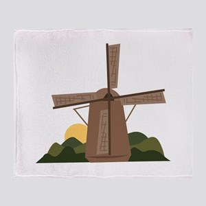 Dutch Windmill Throw Blanket