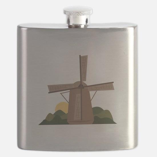 Dutch Windmill Flask