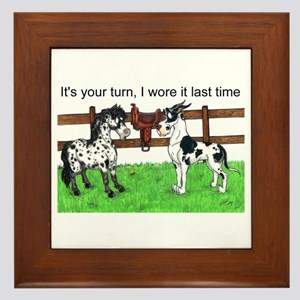 C H Your Turn Framed Tile