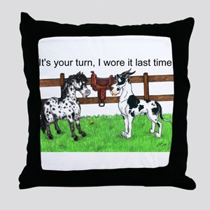 C H Your Turn Throw Pillow