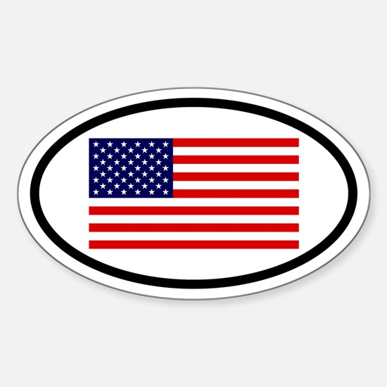 American Flag Oval Decal