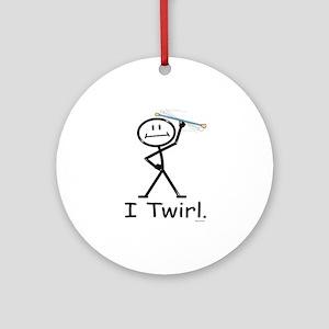 Baton Twirling Ornament (Round)