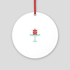 Red Velvet Cake Ornament (Round)