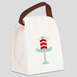 Red Velvet Cake Canvas Lunch Bag