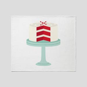 Red Velvet Cake Throw Blanket