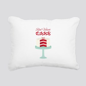Red Velvet Cake Rectangular Canvas Pillow