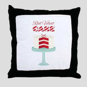 Red Velvet Cake Throw Pillow