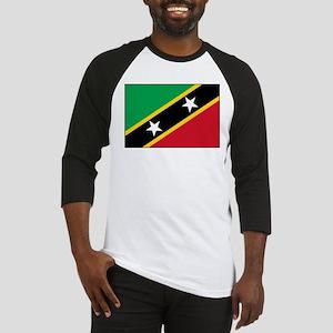 St Kitts Nevis Flag Baseball Jersey