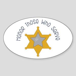 Honor those who serve Sticker