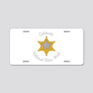 National police week Aluminum License Plate