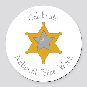 National police week Round Car Magnet