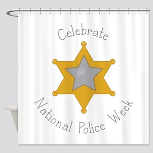 National police week Shower Curtain