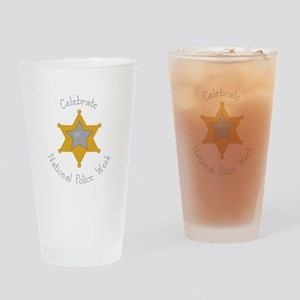National police week Drinking Glass