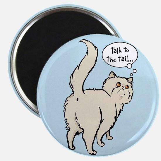 Cream Persian Tail Talk Magnet