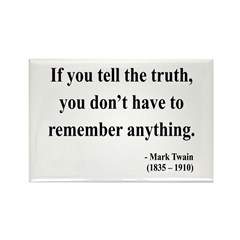 Mark Twain 30 Rectangle Magnet (10 pack)