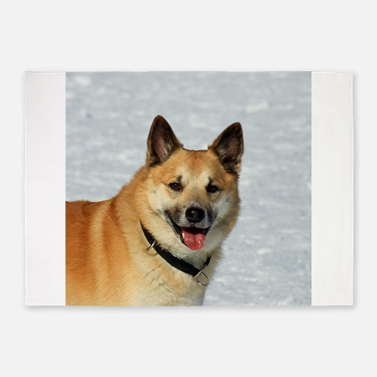 IcelandicSheepdog019 5'x7'Area Rug