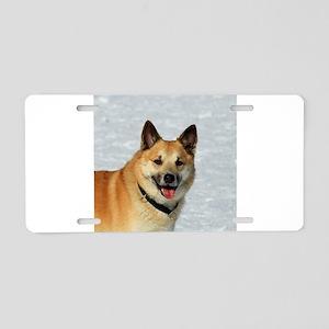 IcelandicSheepdog019 Aluminum License Plate