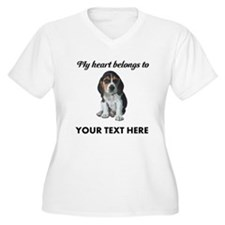 Personalized Beag Women's Plus Size V-Neck T-Shirt
