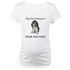 Personalized Beagle Custom Maternity T-Shirt