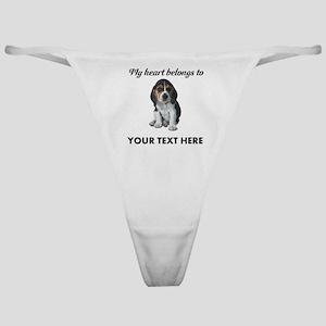 Personalized Beagle Custom Classic Thong