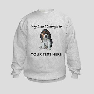 Personalized Beagle Custom Kids Sweatshirt