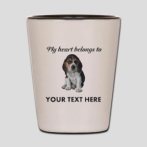 Personalized Beagle Custom Shot Glass