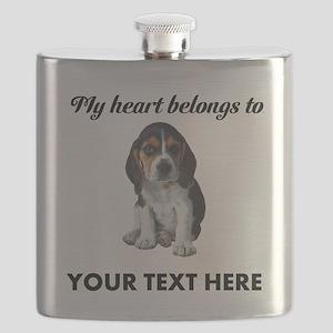 Personalized Beagle Custom Flask
