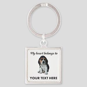 Personalized Beagle Custom Square Keychain
