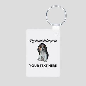 Personalized Beagle Custom Aluminum Photo Keychain