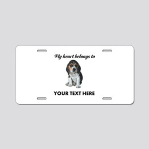 Personalized Beagle Custom Aluminum License Plate
