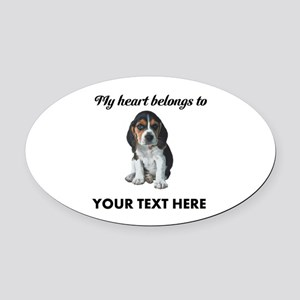 Personalized Beagle Custom Oval Car Magnet
