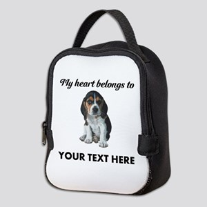 Personalized Beagle Custom Neoprene Lunch Bag