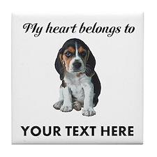 Personalized Beagle Custom Tile Coaster
